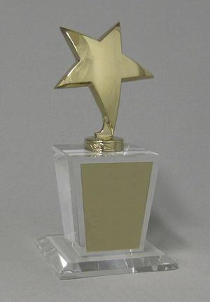 Acrylic Golden Stars Thumbnail