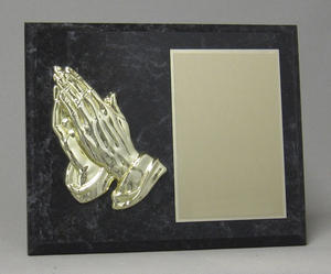 Praying hands plaque Thumbnail