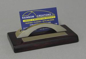 Rosewood Base w/ Gold Metal Card Holder Thumbnail