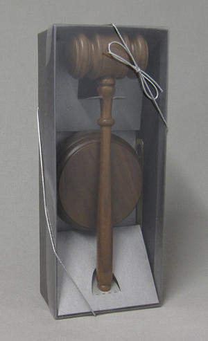Walnut gavel set Thumbnail