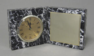 Zebra Marble Clock Thumbnail